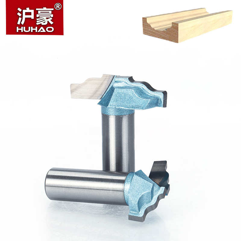 HUHAO 1 PC 1/4 Shank Four Arc CNC Bit Endmill for Wood Woodworking Trimming Router Bits Tool Cabinet Sliding Milling Cutter huhao 1pcs 1 2 1 4 shank classical router bits for wood tungsten carbide woodworking endmill tools classical mounlding bit