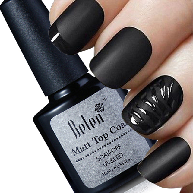 Belen 10ml Cleaning Matt Top Coat Lacquer Gel Nail Polish Matte Primer Layer Varnish