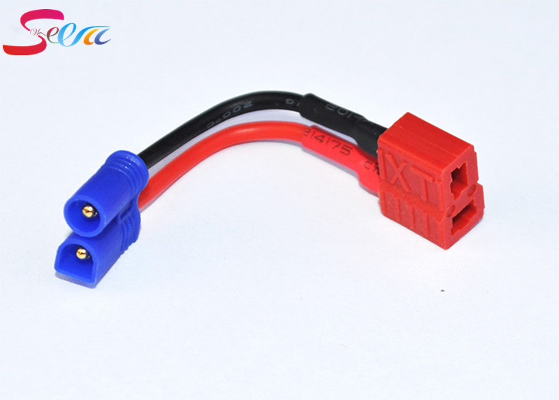 EC2 male to T Connector deans plug female wire adapter For RC Lipo Battery 20pcs t plug male