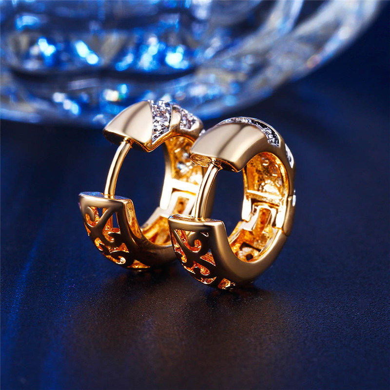 HTB1PkdRKVXXXXXXXpXXq6xXFXXX6 - MISANANRYNE Classic Design Gold Color AAA CZ Wedding Hoop Earrings for Women Fashion jewelry Design Gift Accessories