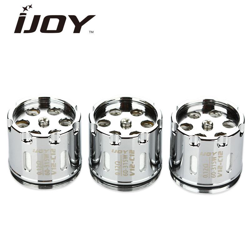 Original 3pcs IJOY MAXO V12 Atomizer Coil Head 0.12ohm V12-C12 Evaporizer for IJOY Maxo V12 RTA & Subohm & Tank Atomizer 60-315W