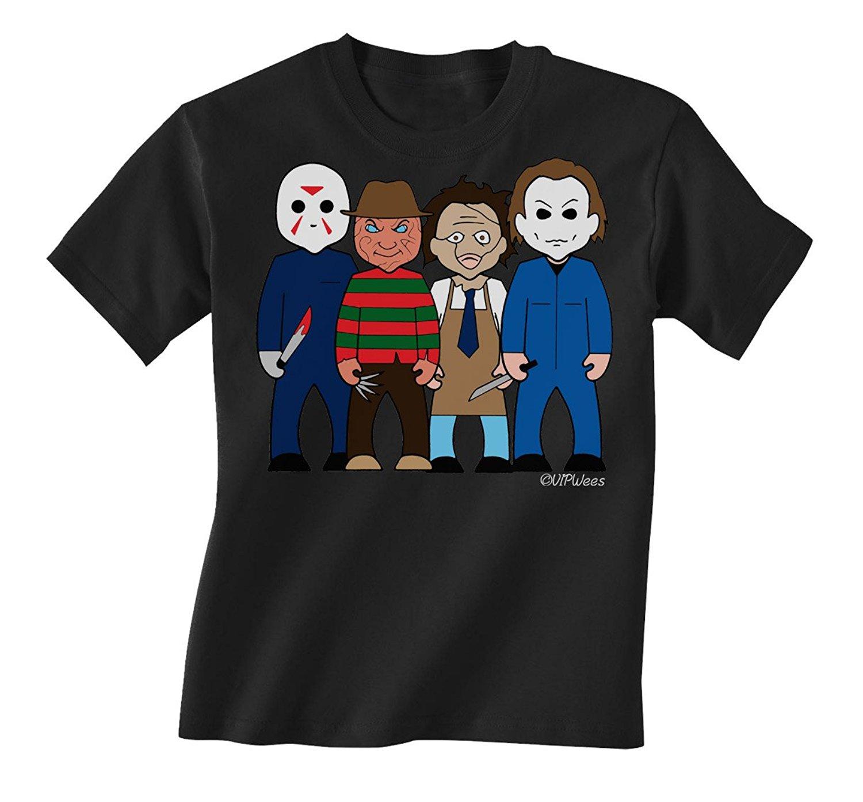 Gildan vipwees Slashers Childrens Unisex Movie T-Shirt Boy/Girl Caricature Gift