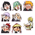 8pcs/set Bleach Stickers - 6cm Comic BLEACH Reusable Fridge Stickers Fixed Gear Luggage Sticker Home Sticker