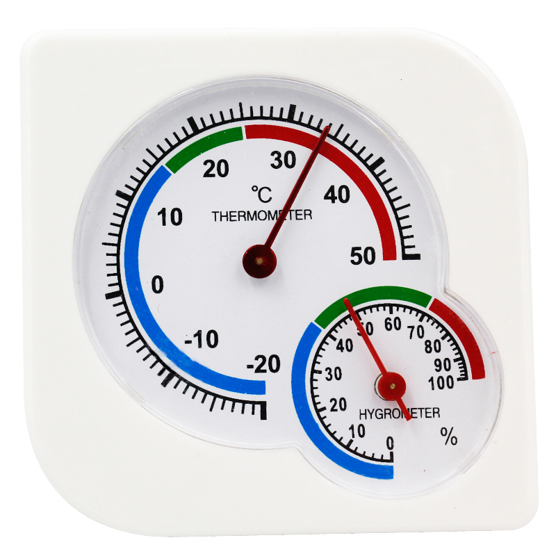 Indoor Outdoor Square Double Dial Thermometer Hygrometer Thermometer Humidity Meter Inductive Pointer -20C-50C  40%off(China)