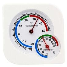 Крытый Открытый квадратный двойной циферблат термометр гигрометр термометр измеритель влажности Индуктивный указатель-20C-50C скидка 42