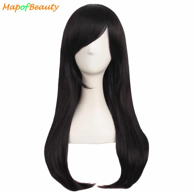 """MapofBeauty 24 """"длинный волнистый парик для косплея Белый Синий Черный Золотой розовые парики для женщин синтетические волосы на Хэллоуин костюм вечерние Peruca"""