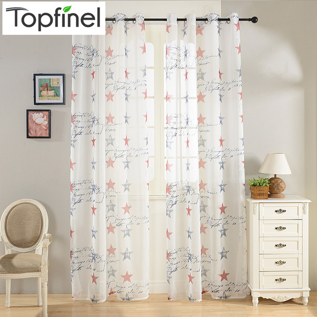 Buy Brand New 2016 Top Finel Children Curtains Blue Red Stars Curtains For