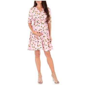 OKLADY 2019 Summer Women Dress Pink Pineapple Print Pregnancy Dresses Maternity Tank Dress Sexy Casual Garden Party Boho Dress kids pineapple print tie dress