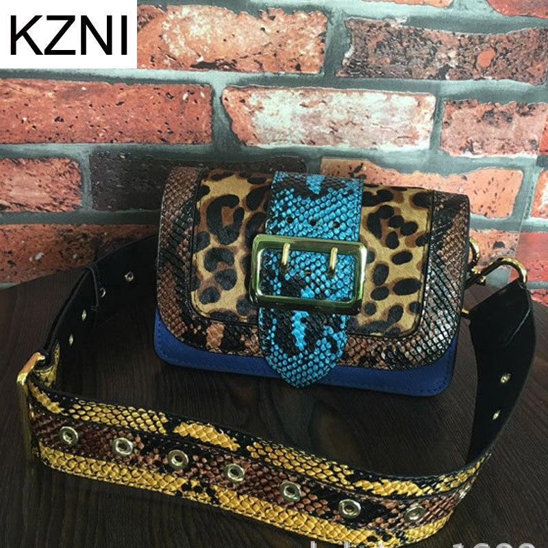 kzni genuíno bolsa de couro Tipo de Estampa : Animal