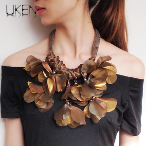 Big Flower Chokers Necklaces F