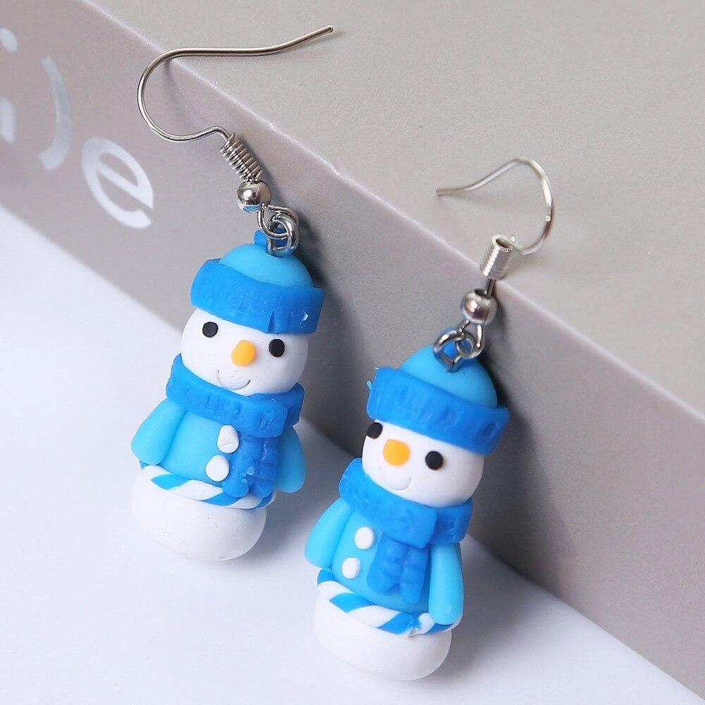 92e1807e5e982 US $1.27 5% OFF Aliexpress.com : Buy New Arrival Fashion Clay Snowman  Earrings for Women Party Christmas Gift Santa Claus Earrings boucle  d'oreille ...