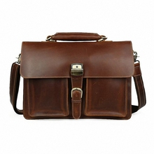 New Men Business Briefcase 16 inch laptop bag Genuine Leather High Quality Office Meeting Working Bag Formal Shoulder BagLI-1323