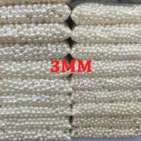 Marfil blanco 3mm 1000 Uds ABS perlas de imitación perlas redondas para manualidades accesorios de joyería de calidad superior
