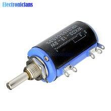 WXD3-13 2 Вт WXD3-13-2W поворотные боковые поворотные многоповоротные проволочные линейные потенциометры 10 к Ом Diy Kit Электронные