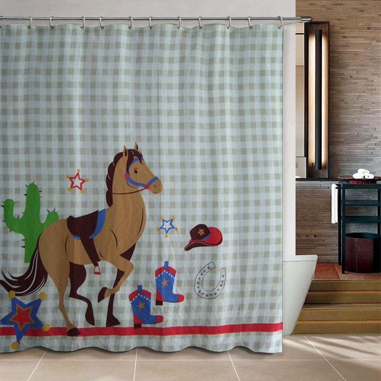 Cartoon Sailing Ship Design Shading Curtain Blackout: Cartoon Pony Boutique Dacron Shower Curtain Eco Friendly