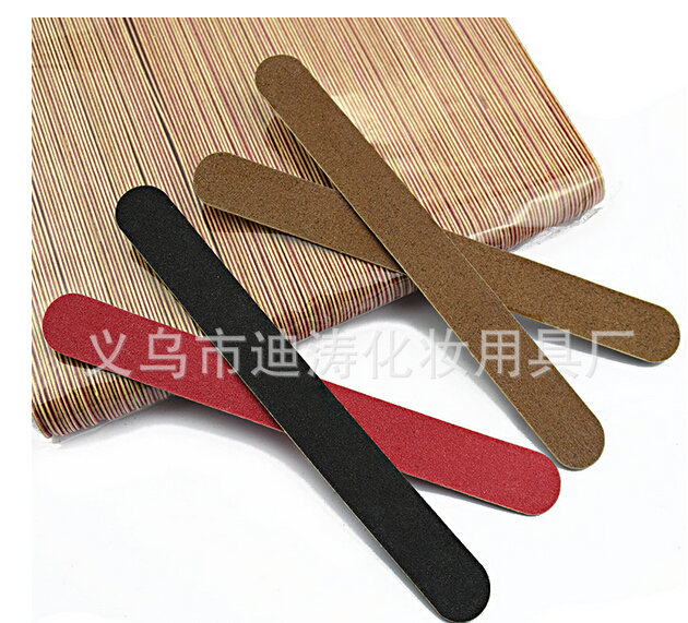 1000pcs 180mm express delivery shipping free 2 side candy color wood Nail File 150 Disposable Manicure
