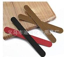1000 шт. 180 мм Бесплатная доставка, 2 сторонние деревянные пилочки конфетных цветов для ногтей, 150 одноразовых инструментов для маникюра