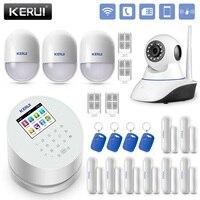 KERUI W2 wifi GSM PSTN дома сигнализация Системы rfid карты Disalarm с 720 P Беспроводной WI FI IP Камера дома охранной сигнализации Наборы
