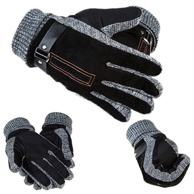 1 PAIR MENS LEATHER GLOVESs