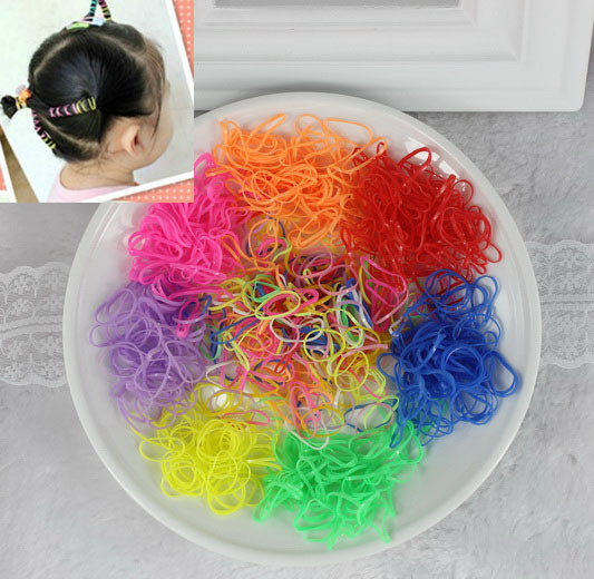 isnice50g 1000/3000pcs Girl Children Elastic Ponytail Holders Hair gum For Rubber Band Tie headwear tiara kids hair accessories women 10pcs velvet hair band elastic ponytail tie headwear bow rubber bobbles soft solid elastic hair accessories for girl new