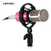 High Quality BM 800 Professional Condenser Sound Recording Microphone With Shock Mount For Radio Braodcasting Singing