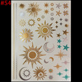 New Hot hot Metalic Tatoos Gold Metallic Temporary Flash Tattoos Sex Products Henna Metal Bling Tatouage Body Paint Stickers