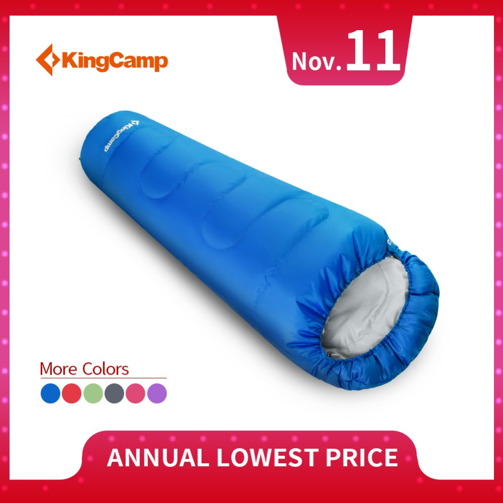 KingCamp Mummy Sleeping Bag Waterproof Ultralight Warm thick 3 Season Cotton Sleeping Bags for Cold Winter Camping Outdoor kingcamp ultralight lazy bag mummy portable waterproof 2 season sleeping bag for camping backpacking