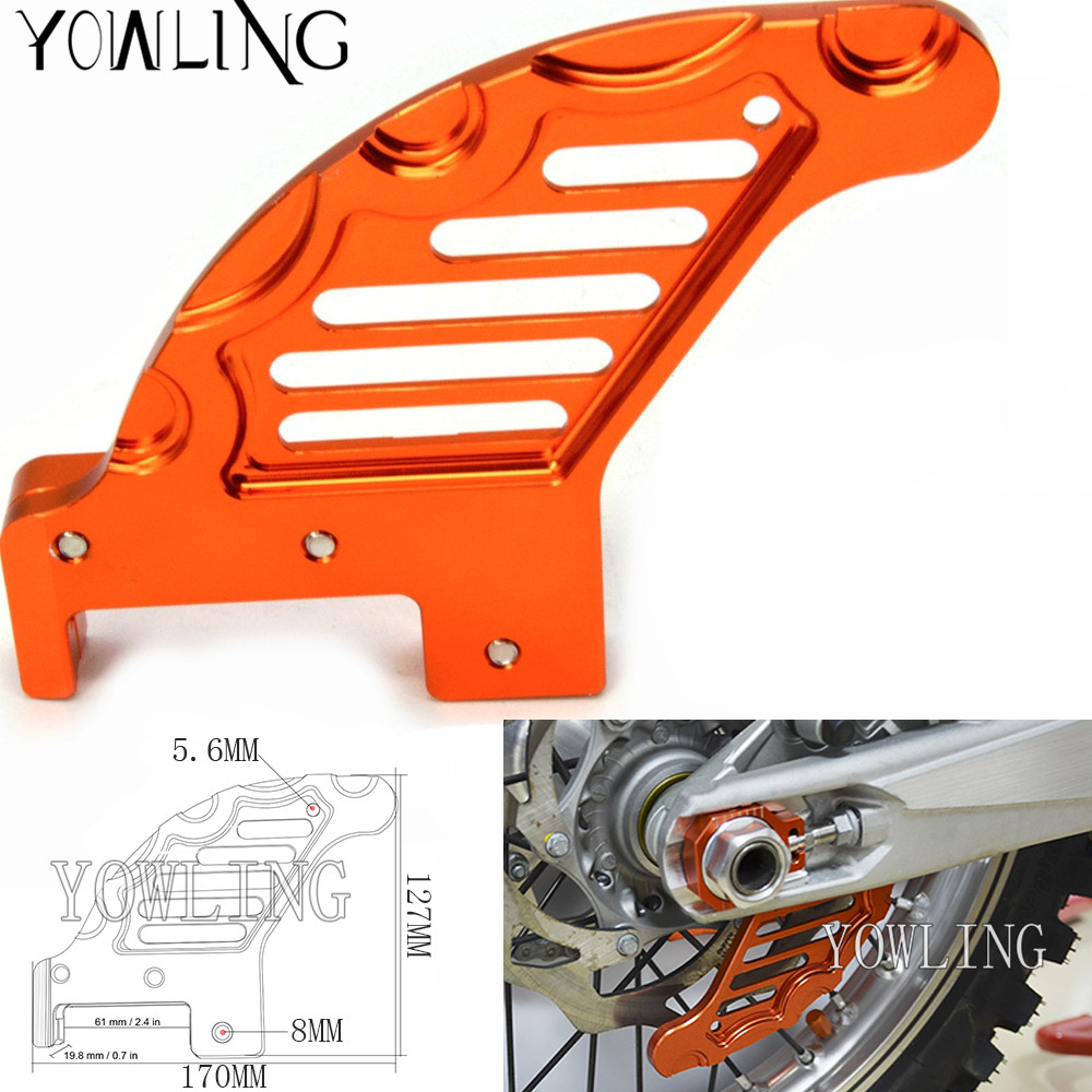 Orange Motorcycle CNC Aluminum Rear Brake Disc Guard Protector Cover Modified Accessory for KTM 125 144 150 200 250 300 450 EXC