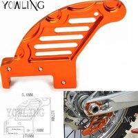 Motorcycle CNC Aluminum Orange Autobike Rear Brake Disc Guard Potector For KTM SX XC XC W