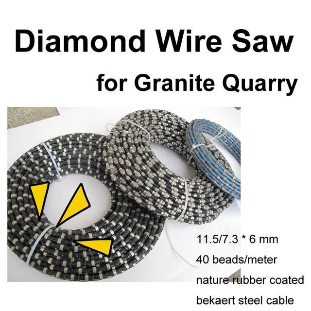 Diamond Wire Saw for Granite Quarry 11.5/7.3 x 6 mm Nature Rubber ...