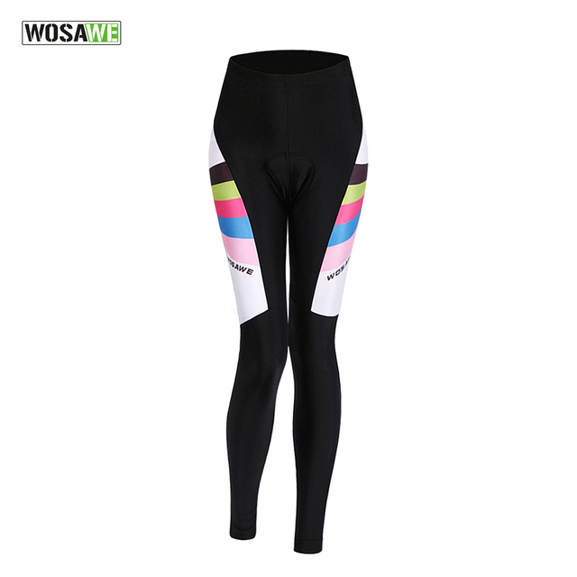 WOSAWE Mujer Pantalones de Ciclismo 3D Gel acolchado Ciclismo medias mujer  transpirable MTB Ciclismo Pantalones d57ffc05e772