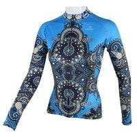 """Paladin """"blau geheimnisvollen dekorative Muster"""" Womens Langarm Radtrikot Fahrrad Hemd Radfahren Kleidung-in Rad-Trikots aus Sport und Unterhaltung bei"""