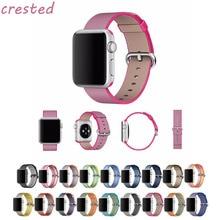 CRESTA de nylon Tejido redondo watchban correa Para apple venda de reloj 42mm 38mm deporte pulsera wrist band para iwatch Serie 3 2 1 Edición