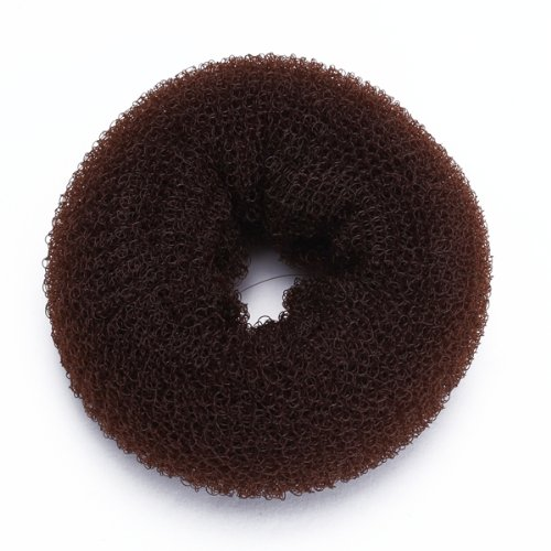 Foam Sponge Magic Donut Bun Former Maker Ring Hair Styling Tool Brown Chic