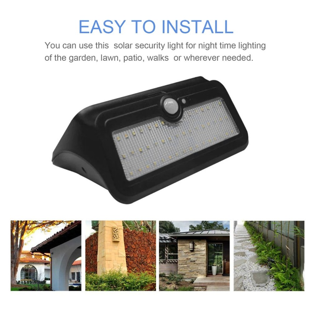 Waterproof Solar Wall Lights Outdoor PIR Motion Sensor 46 LED Super Bright Security Lighting Garden Street Lamp emergency auto led solar panel double head lights motion sensor outdoor garden waterproof lamp spotlights super bright lighting