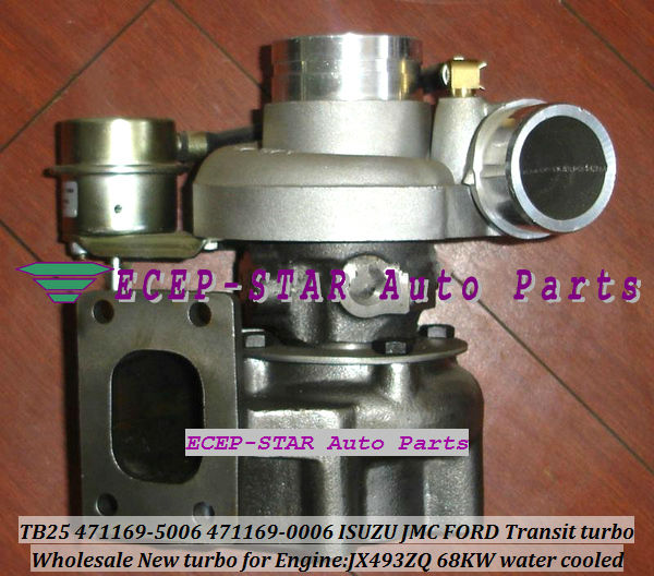 TB25 471169-5006 471169-0006 1118300TC Water cooled Turbo Turbocharger For FORD For ISUZU For JMC Transit JX493ZQ 68KW Gaskets
