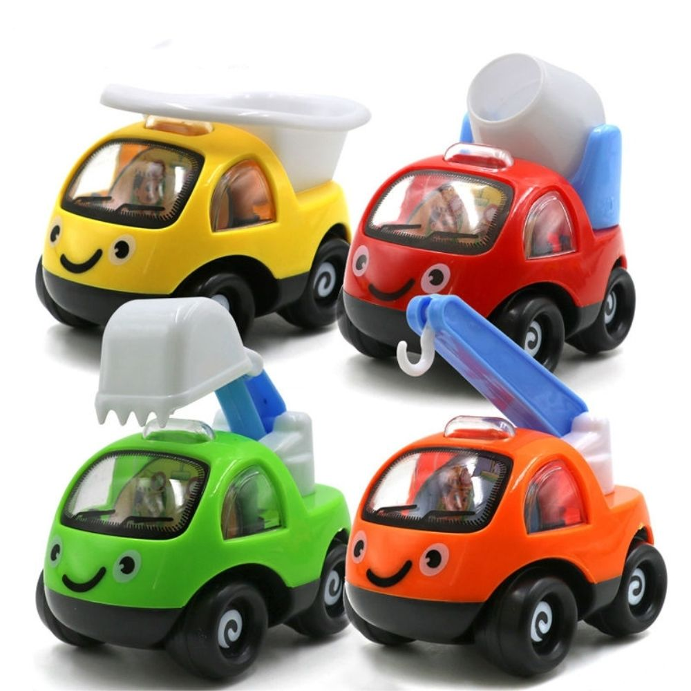 Neue Kleinkind Kinder Baby Inertial Spielzeug Auto Kreative Kunststoff Nette Cartoon Modell Pull Zurück Engineering Auto Spielzeug Fahrzeuge Geschenke