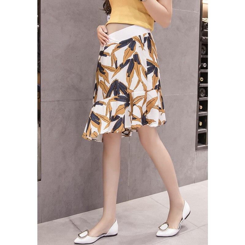 Fashion Chiffon Maternity Skirts Summer Belly Dresses Clothes For Pregnant Women Irregular Pregnancy Skirt Clothing B0436