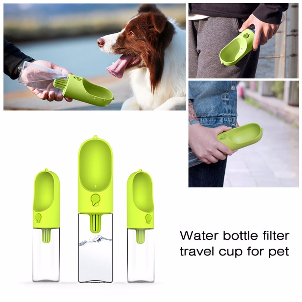 Portable Pet Dog Cat Travel Drinking Water Bowl Bottle: Portable Size 400ML Pet Dog Fedding Bottle Food Grade