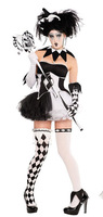 New Sexy Funny Circus Clown Costume Naughty Adult Halloween Cosplay Clothing for Women