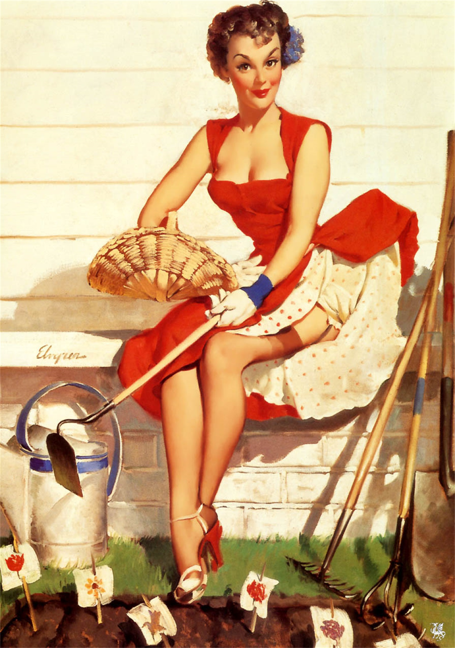 Paintings and pictures of Pinup girls have inspired and entertained generations of men on calendars and all kinds of covers in magazines and on playing cards