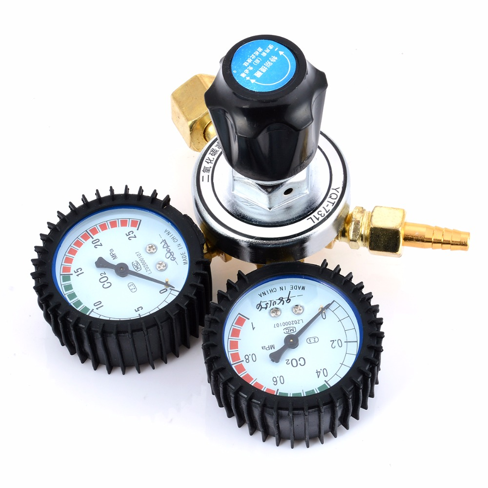 1pc Reliable CO2 Gas Reducing Valve Flow Meter For MIG Welding Beer Brew Cutting Mayitr Pressure Reducing Regulators Valve