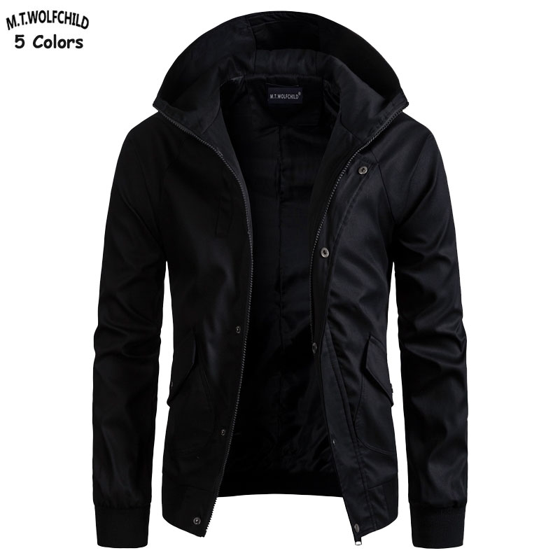 High Quality 2018 Spring And Autumn Military New Mens Hooded Jackets Casual Mens Zipper Windbreaker Coats Fashion Slim Mens Tops