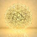 60 cm 70 cm y 80 cm creativo Raimond Led de fuegos artificiales bola colgante lámpara para habitación de acero inoxidable Abajur restaurante loft Luz