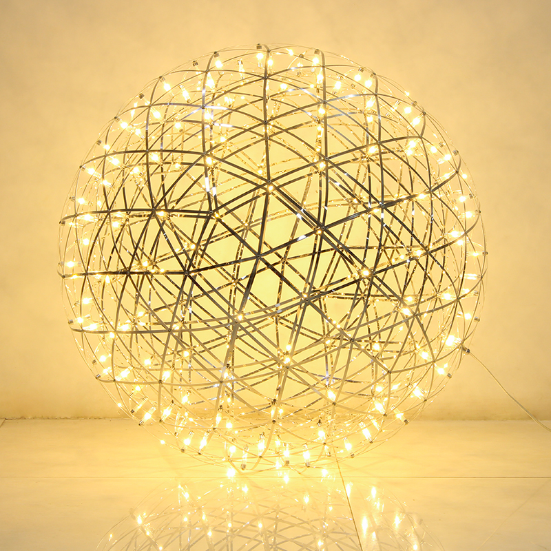 60cm 70cm and 80cm Creative Raimond Led Firework Ball Pendant Lamp For Living Room Stainless Steel Abajur Restaurant loft light