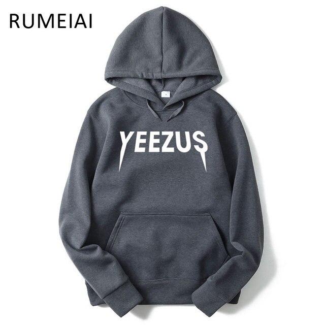 RUMEIAI Yeezus Hoodie Sweatshirt Mens Cross Hooded Autumn High Street Men Hoodies Male Hoodies and Sweatshirts Plus Size M-XXL
