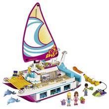 01038 LEPIN 651Pcs Friends Series Sunshine Catamaran Model Building Blocks Enlighten Figure Toys For Children Compatible