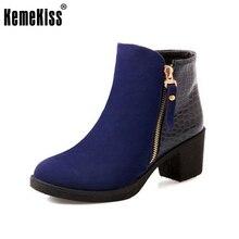 woman ankle high heel short boots women snow botas feminina fashion winter warm boot footwear P16077 EUR size 34-43
