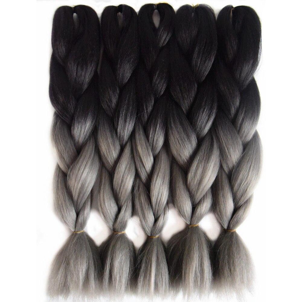 Hair Extensions & Wigs Smart Alirobam Ombre Kanekalon Jumbo Braids Hairstyles Hair For Russian Women Big Box Braids Colors Synthetic Braiding Hair 24 100g