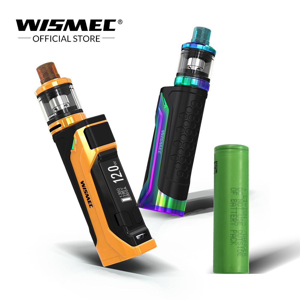 Pre Order Original Wismec CB-80 Kit with AMOR NS Pro Tank 2ml with 1pc 18650 battery Output 80W Electronic cigarette vape kit цена
